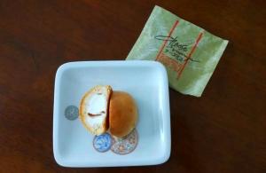 弁天堂のチーズ饅頭(断面)